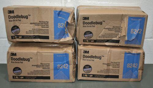 "(20) 3M Doodlebug Blue Scrub Pad 8242, 10"" x 4-5/8"" / 254mm x 117mm, Medium"