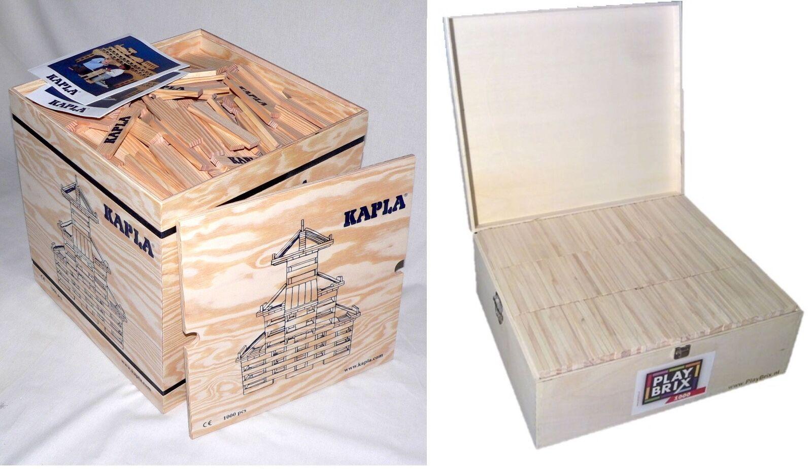 Holzbausteine Bauklötze Spielsteine Markenlos oder KAPLA 1000 500 200 Holz Natur