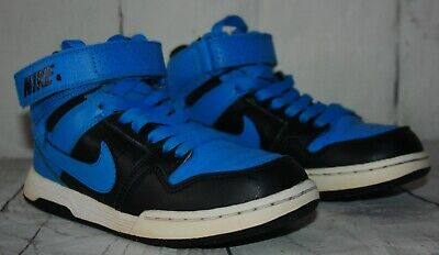 Nike SB Mogan Mid 2 JR B Kid Skateboard 645025-400 Blue/Black Shoes Size 1Y