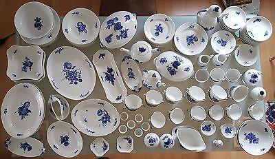 143 Teilig ROYAL COPENHAGEN Blaue Blume TOP Kaffee Tee Speise Service Porzellan