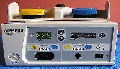 Olympus Esg-100 Electrosurgical Generator With Foot Switch Esu 2012