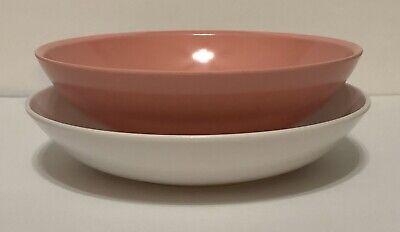 VINTAGE Pink BoontonWare & White Melamine Melmac Vegetable Serving Bowls