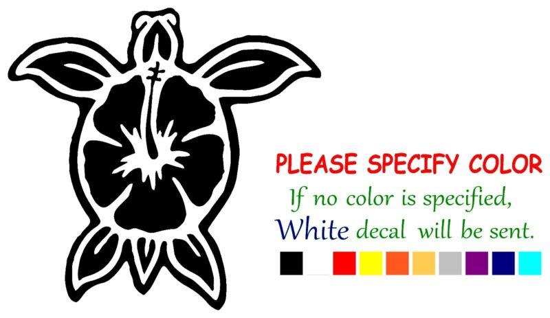 """Hawaiian Turtle flower Funny Vinyl Decal Sticker Car Window bumper laptop 6"""""""