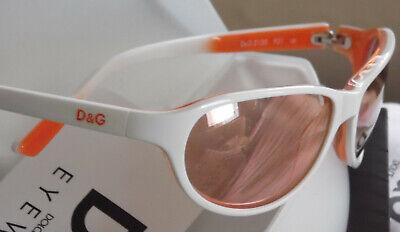 Original Dolce & Gabbana D&G Damen SONNENBRILLE Sunglasses weiß orange NEU
