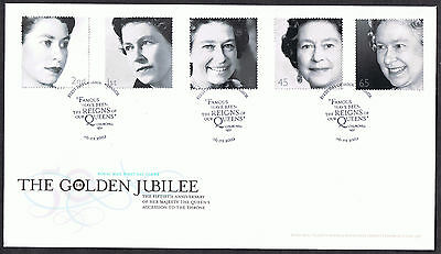 The Golden Jubilee 2002 First Day Cover - SG2253 to SG2257 Windsor Cancel