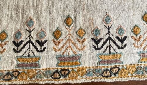 Antique Ottoman Embroidered Table Runner  WW268