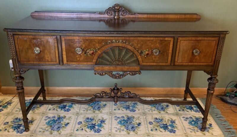 Antique Berkey & Gay Furniture Walnut Sideboard Buffet
