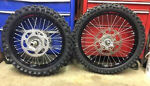 BRAND NEW 2016 YZ250F Complete Excel Wheel Set Black
