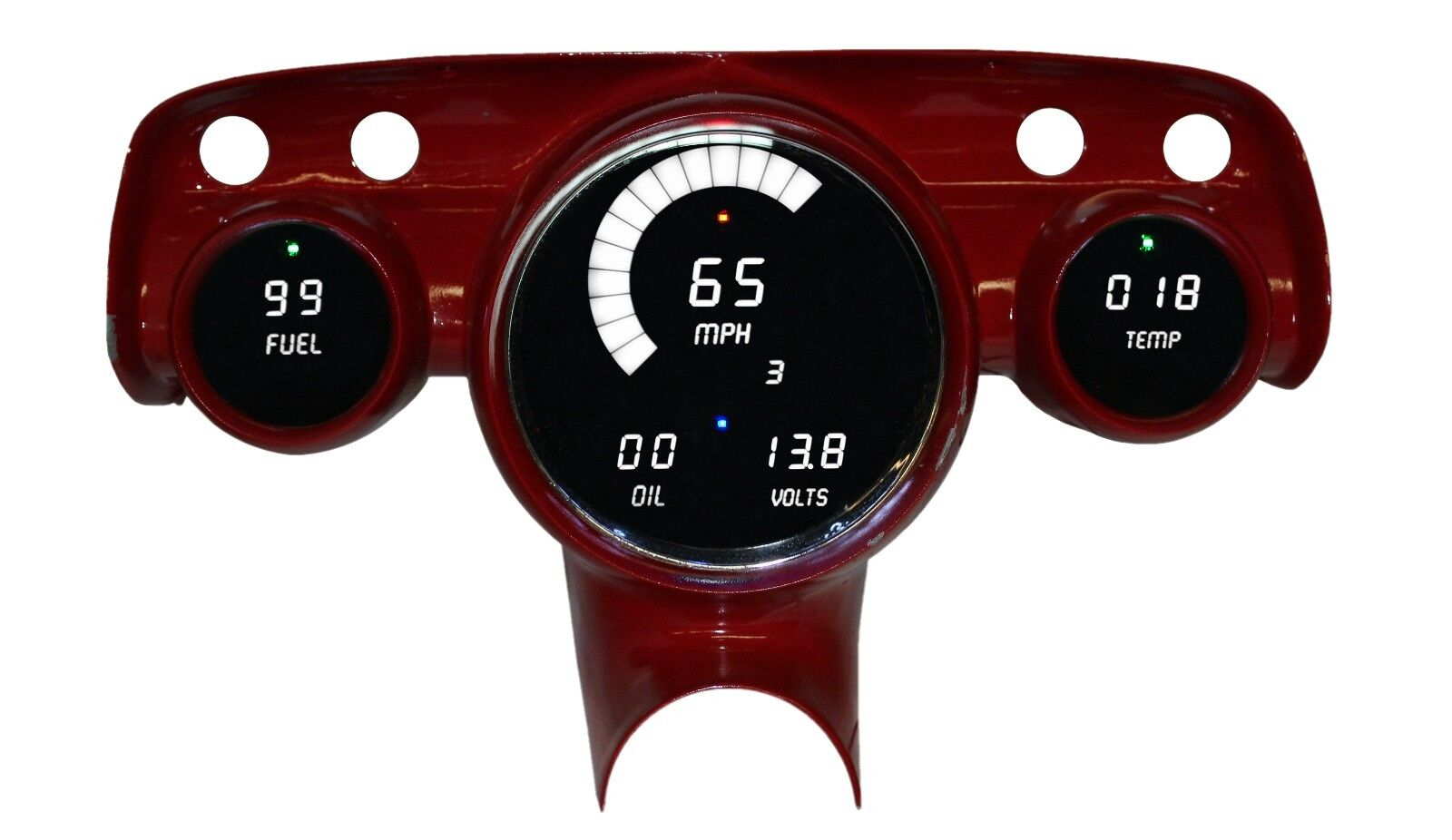Used Chevrolet Bel Air Gauges For Sale 1957 Chevy Impala Ss Dash Intellitronix White Led Speedo Tach Combo Ls Swap