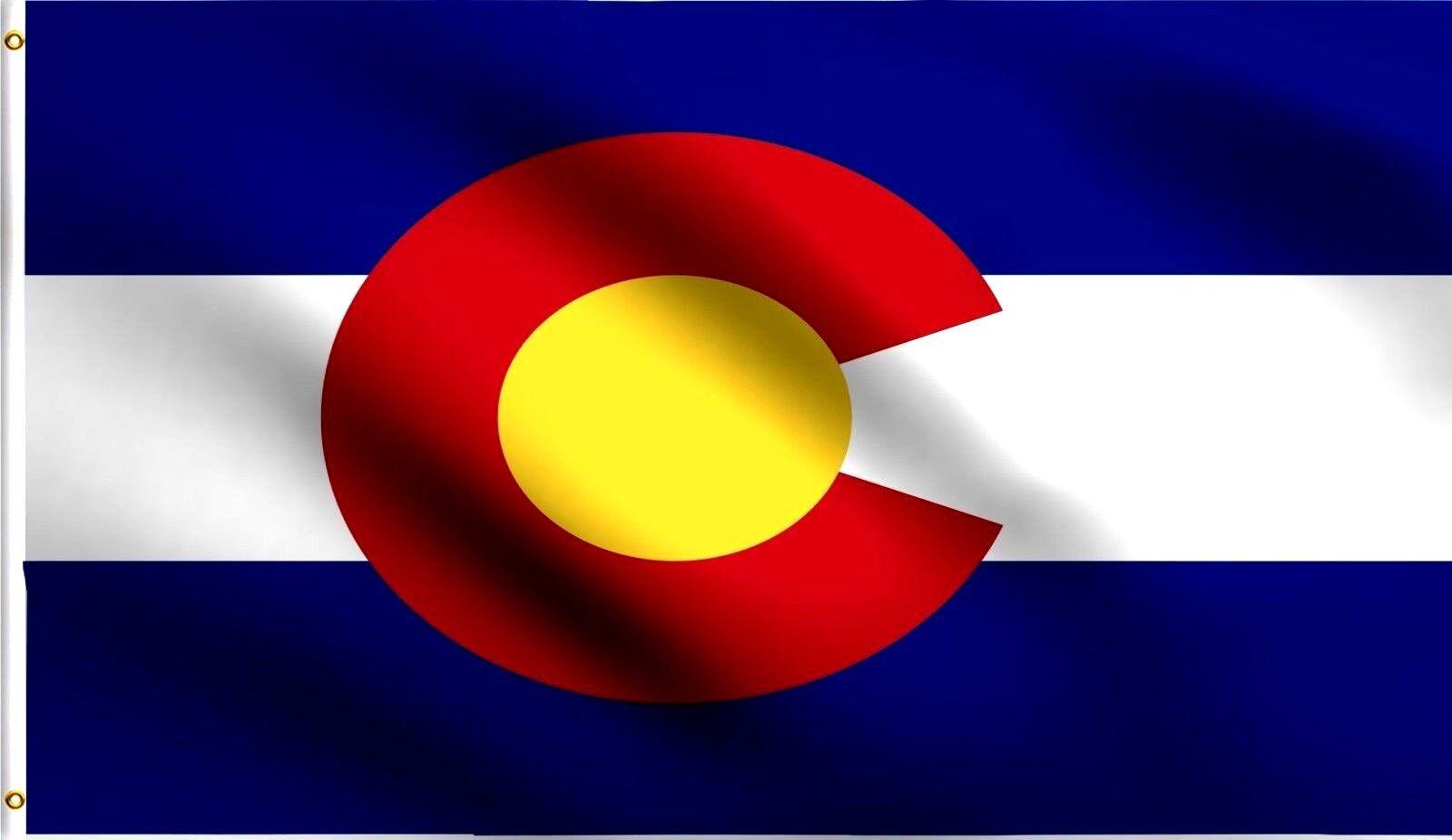 3x5 Colorado Flag 3'x5' House Banner grommets Power polyeste