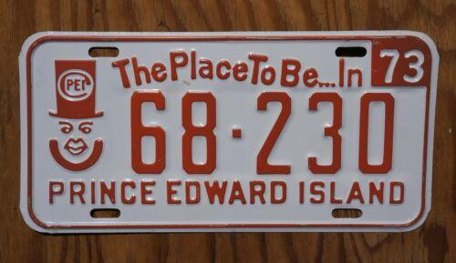 1973 Prince Edward Island Canada License Plate - Original Paint
