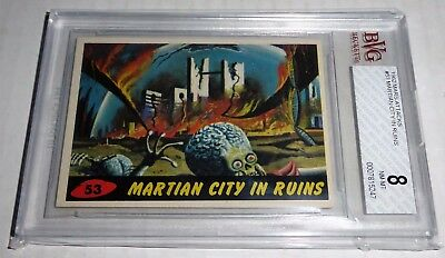 1962 Mars Attacks Martian City in Ruins #48 BVG 8 Like PSA BGS Alien Horror UFO