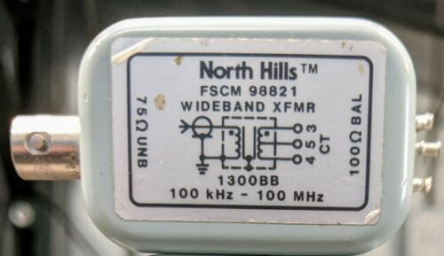 North Hills Instrumentation Measurement Balun Model 1300BB .1-100MHz Wideband