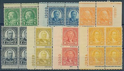 #632 // #642 PLATE # BLOCKS OF 4 F-VF OG NH CV $113.75 BQ8057