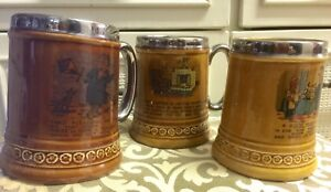 """10 each, 4 Vintage Comical Beer Mugs """"Lord Nelson Pottery"""