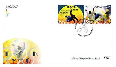 Kosovo Stamps 2021. Olympic Games: Tokyo 2020. FDC Set MNH