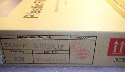 Qty 500 .01uf 630v 5 Polypropylene Film Capacitors Ecqf6103rjz Panasonic