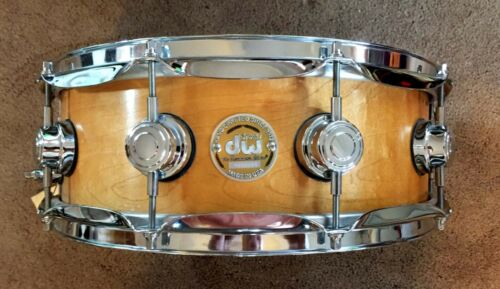"""DW 5"""" x 14"""" 10+6 COLLECTOR SERIES GOLD LABEL Snare Natural Satin MINT!"""