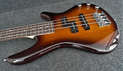 Ibanez  Gsrm20 Bs Mikro Short Scale Light Electric Bass Guitar Brown Sunburst
