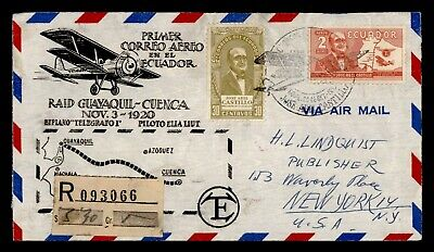 DR WHO 1955 ECUADOR FIRST FLIGHT ANIV GUAYAQUIL TO CUENCA CACHET  g24016