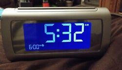Brookstone/TimeSmart/Self Setting/Dual Alarm Digital Alarm Clock/#4511/L@@K