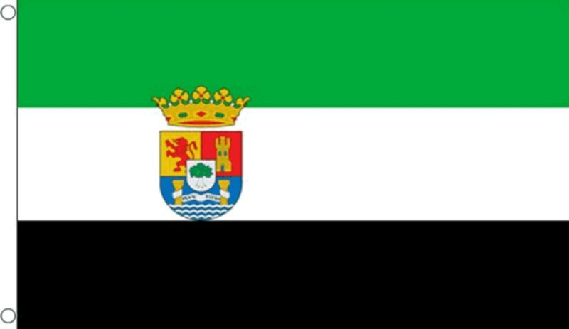 EXTREMADURA 5x3 feet FLAG 150cm x 90cm Polyester fabric flags SPAIN SPANISH