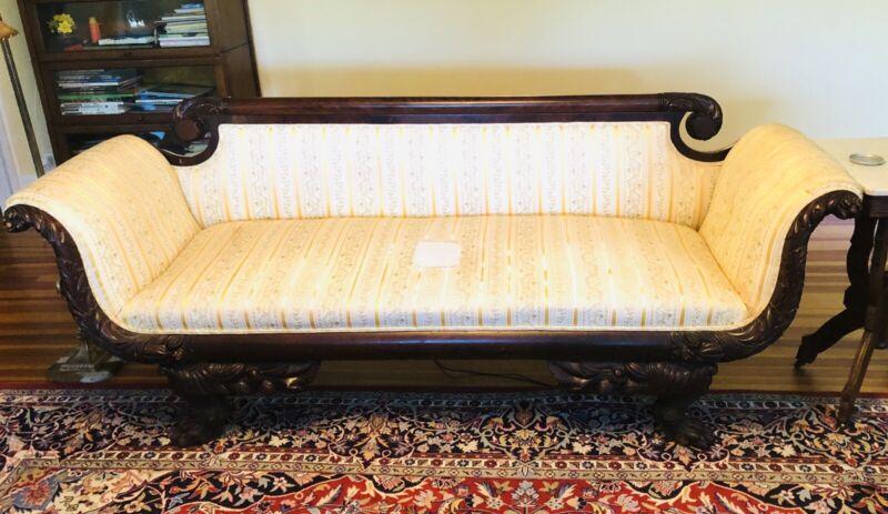 Antique American c.1815 Classical Federal Period Sofa Original Finish
