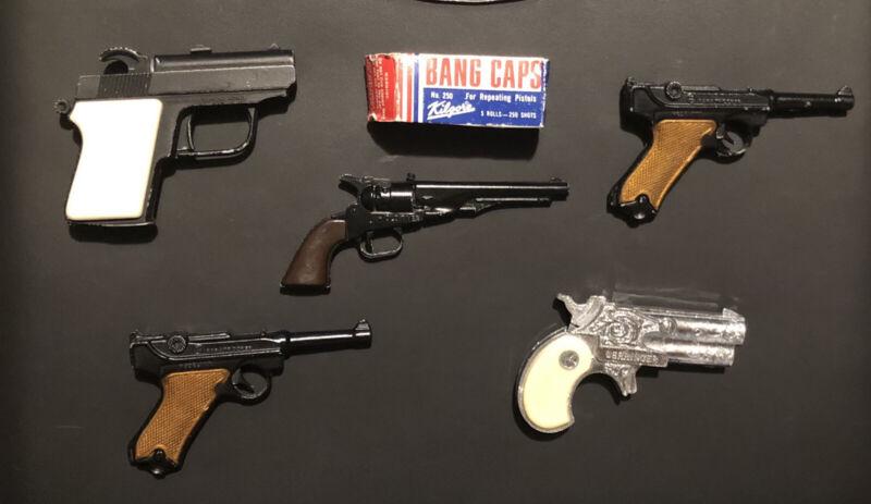 🔥Vintage Zee Toys And Circle-K Miniature Cap-Gun Collection w/Bang Caps🔥