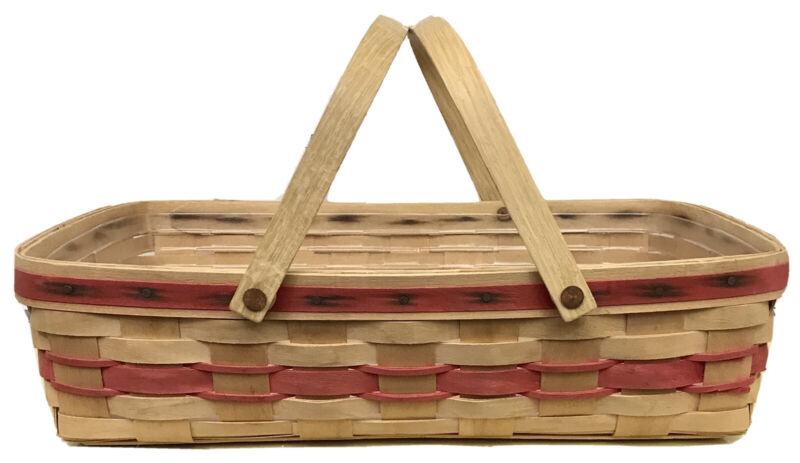 Longaberger Medium Gathering Basket, 1987, Protector, Red Weave