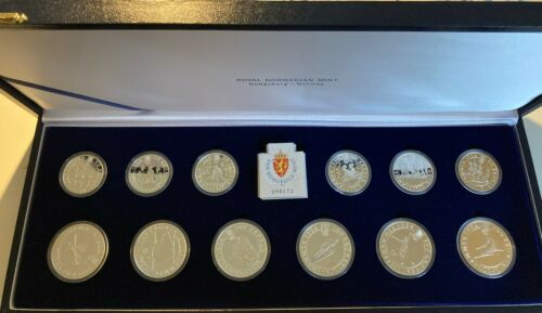 Norway Lillehammer Winter Olympics 1994 Silver proof Set - 100 and 50 kr coins