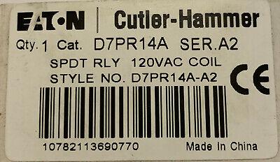 Eaton Cutler Hammer D7pr14a 120 Vac Spdt Relay