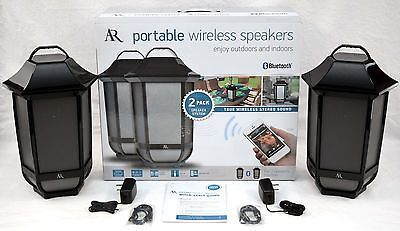 2 x NEW Acoustic-Research In/Outdoor Hanging Lantern Wireless Bluetooth Speakers