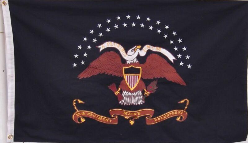 HEAVY COTTON MAINE 20TH REGIMENT VOLUNTEERS UNION FLAG - JOSHUA CHAMBERLAIN