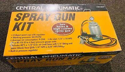 Central Pneumatic Spray Gun Kit Brand New High Volume Manufacturers Pn 93312