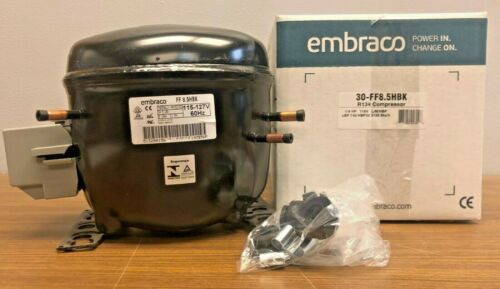 NEW EMBRACO FF8.5HBK 1/3HP Compressor - 115V , R134A (AEA4430YXA Replacement)