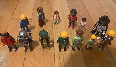 10 random playmobil figures men people children police pirates fire victorian.