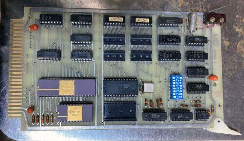 Motorola MC6800 based controller vintage ceramic chips, 4 boards + card cage