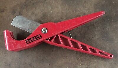 Ridgid Plastic Pipe Tubing Cutter Single Cut