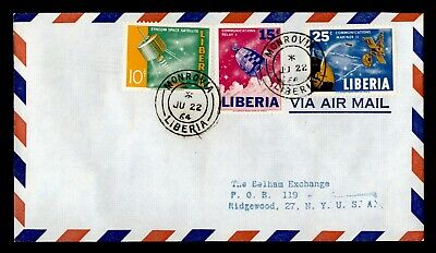 DR WHO 1964 LIBERIA FDC PROGRESS IN SPACE COMMUNICATIONS C244391
