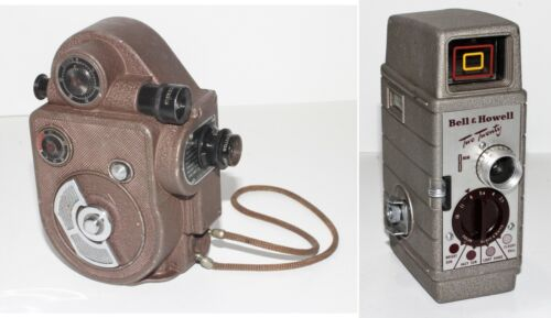 2 Vintage Movie Cameras ~ Revere Double 88 and Bell  and Howell Two Twenty