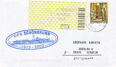 AUSTRIAN RIVER CRUISE SHIP DFS SCHONBRUNN A SHIPS CACHED COVER
