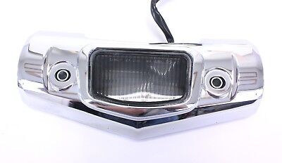 07   09 V STAR 1300 XVS1300 TOURING LICENSE PLATE LIGHT  CHROME COVER