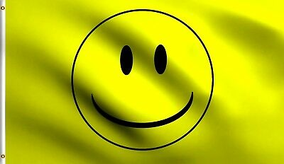 3X5 SMILEY FACE FLAG SMILE HAVE A NICE DAY BANNER F199