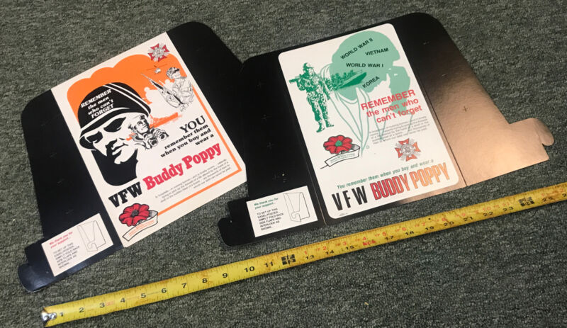 Vintage Veterans of Foreign Wars Buddy Poppy Posters and Advertising Material