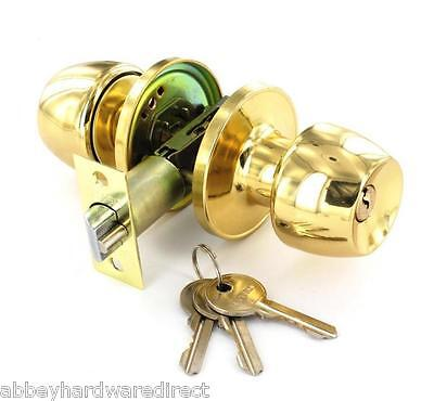 Entrance, Privacy & Passage Door Knob Sets - Polished Brass Finish ()