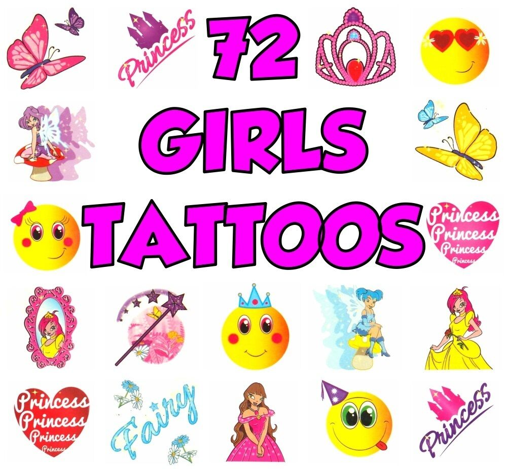 24 x Girls UNICORN Temporary Tattoos Children/'s Party Loot Bag Fillers
