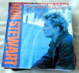 """7"""" Singles x 17 (Rod Stewart) Some Picture Sleeves Not Tested -- All Listed"""