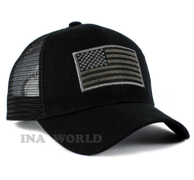 flag hat mesh army tactical operator baseball cap black hats usa tan with american