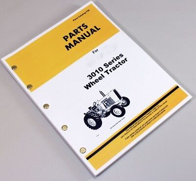 Parts Manual For John Deere 3010 Industrial Wheel Tractor Catalog Book