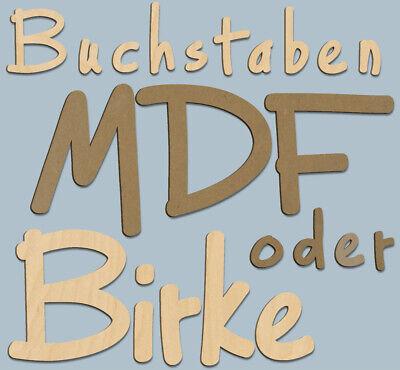 Nr.2 3D Holz Buchstaben Zahlen Sonderzeichen 5cm - 30cm Wunschtext u.Größe